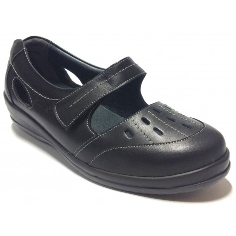 SUAVE 54 3118 Zapato Mujer Pie Diabético Negro