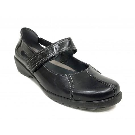 SUAVE 36M 3429 Zapato Mujer Merceditas Negro velcro
