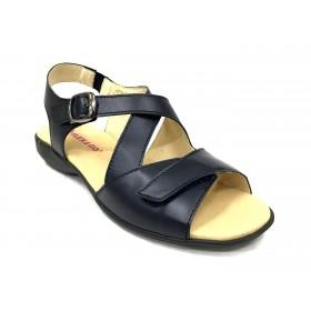 Flex&Go 12 5143 sandalia mujer marrón camel bronce piel piso de goma