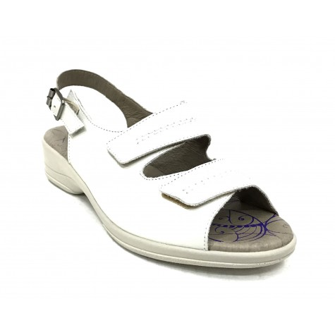 Flex&Go 62A 4579 Sandalia Mujer Blanco dos velcros