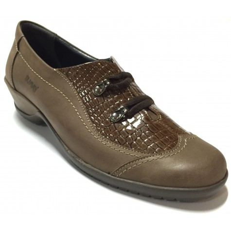 Suave 75 3204 Negro Zapato Abotinado de Mujer