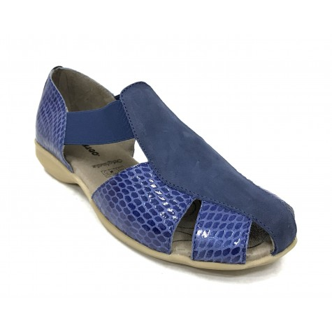 Flex&Go 63B 3282-1 Sandalia cerrada Mujer Azul