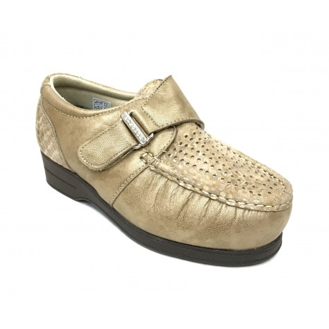 Pinoso's 10 6515-H Beig Zapato Mujer Pie Diabético