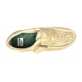 Pinoso's 10 6515-H Beig Zapato Mujer Pie Diabético, forro coolmax, plantilla extraíble de viscolátex, con cuña de 2,5 cm