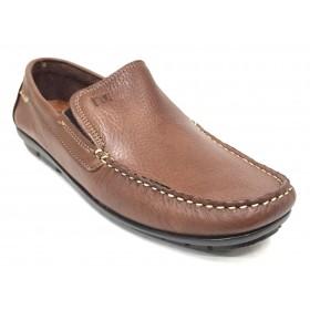 Baerchi 7901 Calima Cuero Tommy, mocasín de hombre, piel natural, plantilla almohadillada, piso goma cosido