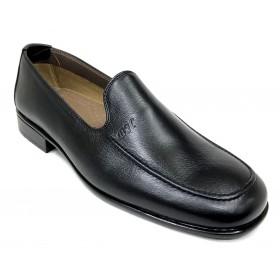 Baerchi 3580 Evo Cuero Negro, mocasín de hombre, piel natural, forro de piel, piso goma pegado, ligero y flexible