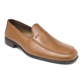 Baerchi 3580 Evo Cuero Marrón, mocasín de hombre, piel natural, forro de piel, piso goma pegado, ligero y flexible