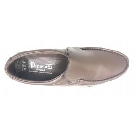Pinoso's 4746 Marrón Ancho 10 Kiowa zapato de hombre cosido y piel cordero