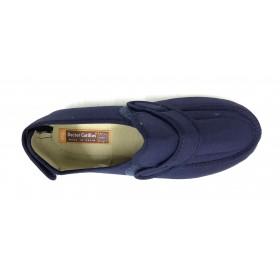 Doctor Cutillas 10187 azul marino zapatilla unisex, horma extra ancha, velcros, piso de goma antideslizante