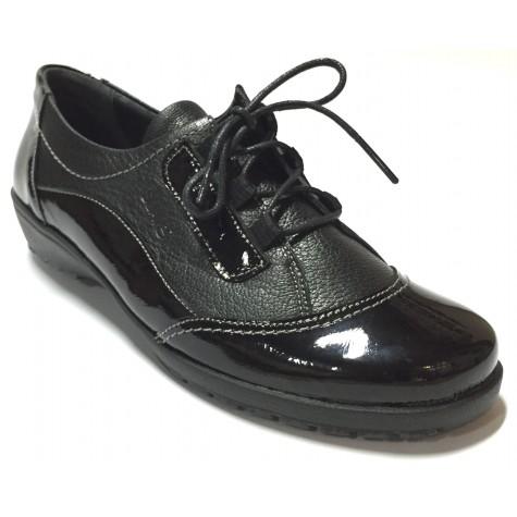 Suave 29 3065 Negro Zapato de Mujer Cordones