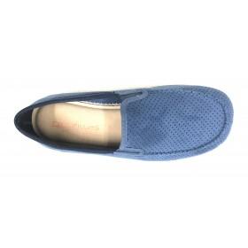 Doctor Cutillas 1443 Marino, zapatilla de hombre cerrada, horma extra ancha, elásticos, piso de goma antideslizante, plantilla