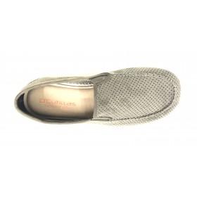 Doctor Cutillas 1443 Tabaco, zapatilla de hombre cerrada, horma extra ancha, elásticos, piso de goma antideslizante, plantilla