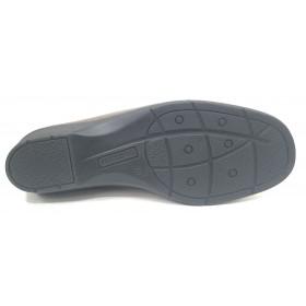 Flex&Go 09 1400 Plata Vieja Zapato de Mujer Básico, cosido, piel suave, con plantilla de piel y cuña de 3,5 cm