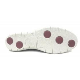 Suave 92 3509 Magnet Cloudy, gris, zapato mujer deportivo, piel brillo, dos velcros, piso de goma 2,5 cm y plantilla extraíble