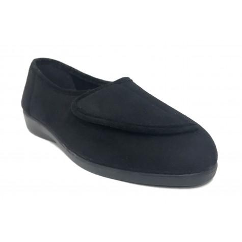 Doctor Cutillas 10275 Negro Zapatilla Mujer Paño