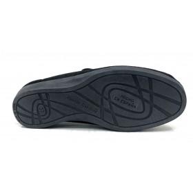 Doctor Cutillas 10187 Negro, zapatilla unisex, horma extra ancha, velcros, piso de goma antideslizante
