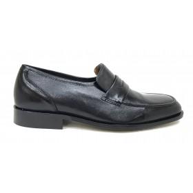 Aída Arellano 327 Negro, Milán, zapato de hombre clásico, Ancho 10, piel cabra, suela de cuero, cosido y forro piel