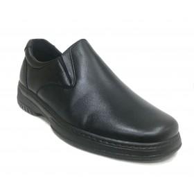 Pinoso's  5985 Negro, zapato de hombre, piel napa, ancho 12, forro en piel, piso de poliuretano pegado, plantilla extraíble