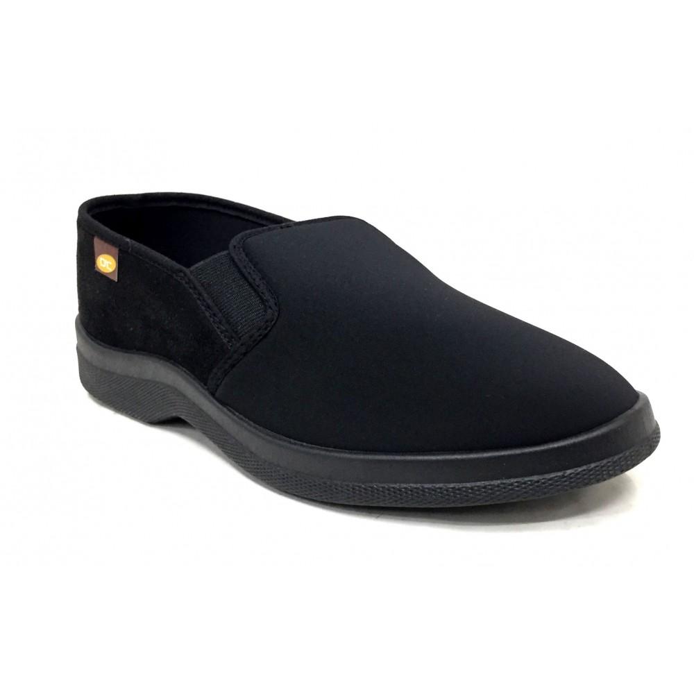 Doctor Cutillas 21290 Negro, zapatilla calle hombre, textil, licra, piso de goma, adaptable a plantillas y horma ancha