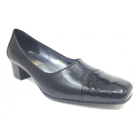 Sensipie 01 5015 Negro Charol Zapato de Mujer con Tacón