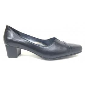 Sensipie 01 5015 Negro, Zapato salón de Mujer con Tacón de 4 cm, piel y charol, piso de goma, forro y plantilla piel