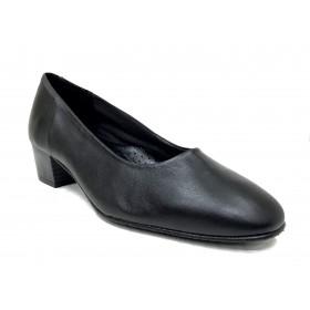 Fleximax 03 44 zapato salón de mujer, piel napa, con tacón 4 cm, forro piel y piso de goma