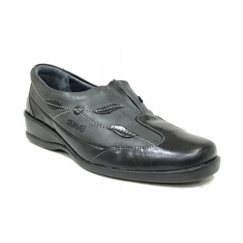 Suave 47 3558 Negro Zapato de Mujer Hoja