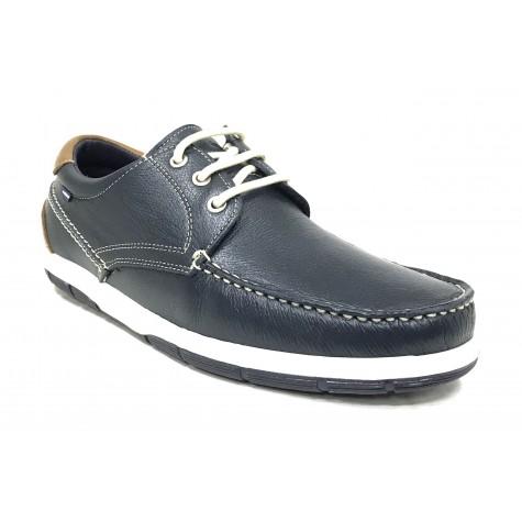 Baerchi 7210 Zapato de Hombre Marino Blanco con cordones