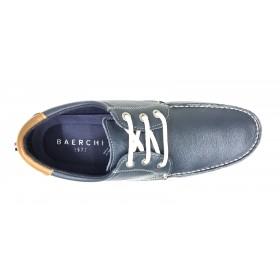 Baerchi 7210, Zapato de Hombre, color Marino y  Blanco, piso de goma, cierre con con cordones