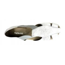 Flex&GO 63D 40-3282 Plata, Sandalia cerrada de Mujer, piel y elásticos laterales