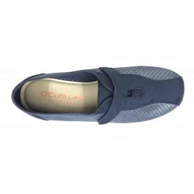 Doctor Cutillas 06A 3176 Marino, Zapatilla de Mujer, piso de goma con cuña, velcro y plantilla extraíble