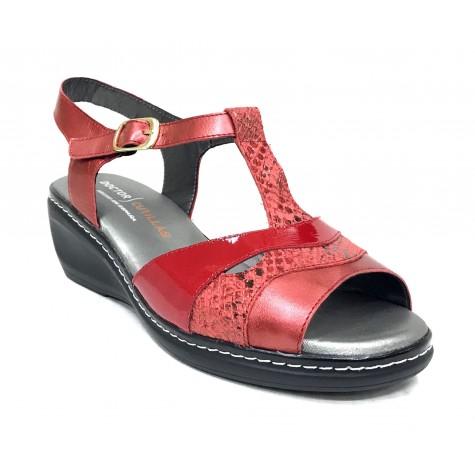 Doctor Cutillas 14 32106 Rojo Sandalia de Mujer