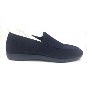 Doctor Cutillas 1433 Marino Jeans, Zapatilla de Hombre, Horma Ancha, piso goma y plantilla extraíble