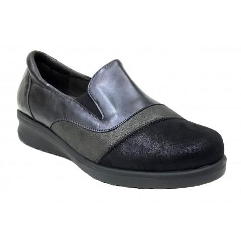 Doctor Cutillas 11 54348 Negro Zapato de Mujer Licra