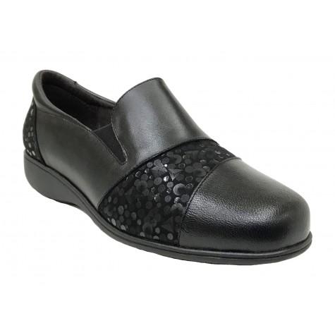 Doctor Cutillas 13 53440 Negro Zapato de Mujer Licra