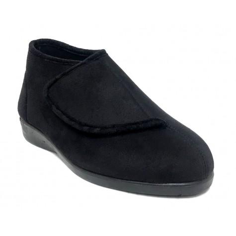 Doctor Cutillas 10276 Negro Zapatilla Bota Mujer Paño