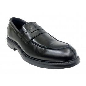Pinoso's 7624 Negro, zapato de hombre, Ancho 13, piso de goma con tacón y plantilla extraíble