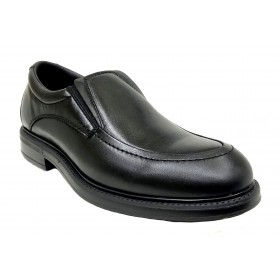 Pinoso's 7626 Negro, Ancho 13, Zapato de Hombre, piso de goma antideslizante y plantilla extraíble