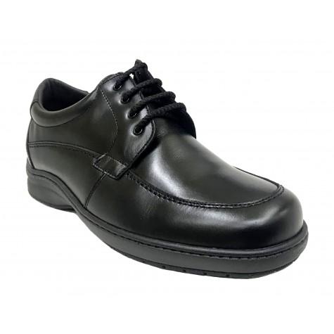 Pinoso's 7630-H Negro Zapato de Hombre Pie Diabético