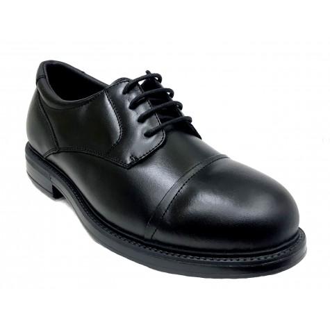 Pinoso's 7714-H Negro Zapato de Hombre Pie Diabético