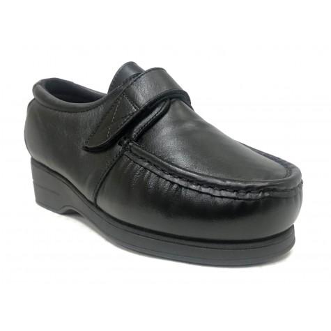 Pinoso's 01 5627-H Negro Zapato Mujer Pie Diabético
