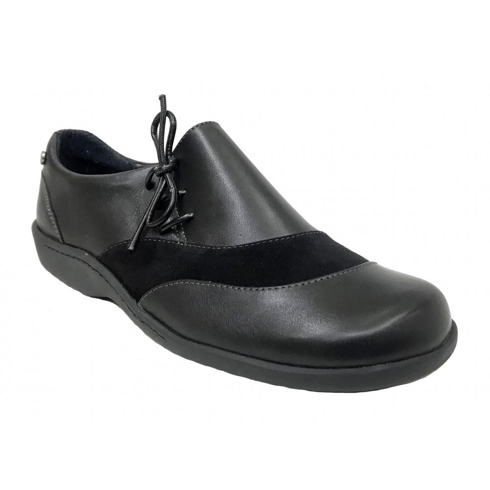 Flex&go 15 4997-1 negro deportivo plano ante cordones