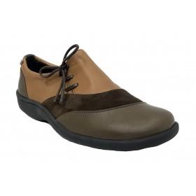 Flex&go 16 4997-1 zapato marrón deportivo ante cosido