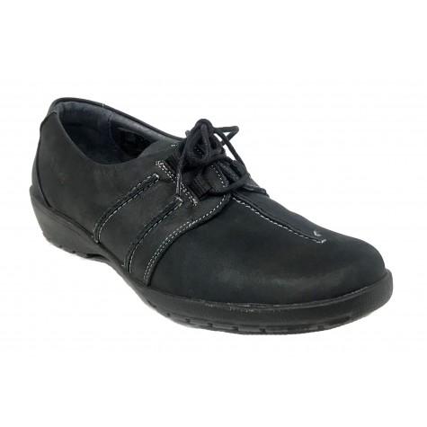 Suave 01 3005 Negro Zapato de Mujer Cordones