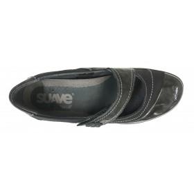 Suave 64 3019 Gunmetal Negro, Mercedes Mujer, piso de goma antideslizante y plantilla extraíble