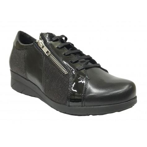 Baerchi 09 36301 Negro Zapato de Mujer con cordones