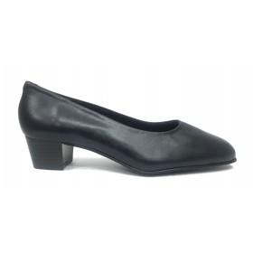 Fleximax 03M 44 Marino, zapato salón de mujer, piel napa, con tacón 4 cm, forro piel y piso de goma