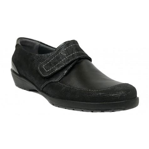 Suave 59C 3010 Negro Zapato de Mujer con Velcro