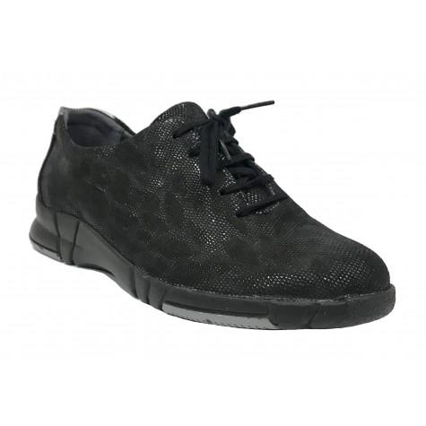 Suave 93A 3204 Negro Zapato deportivo de Mujer con cordones