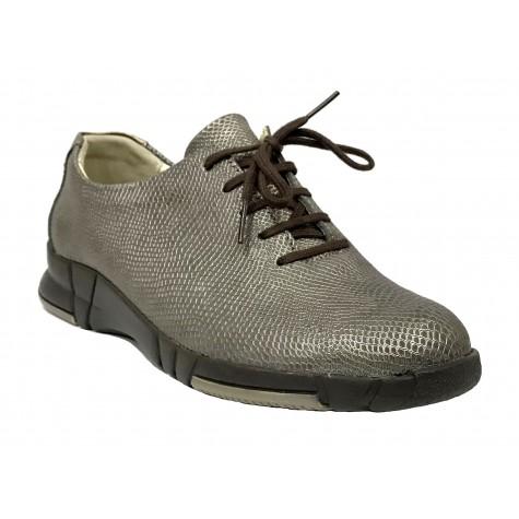 Suave 93C 3204 Sepia Dorado Zapato deportivo de Mujer con cordones
